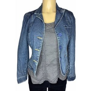 Vintage Jordache Denim Jean Jacket Blazer Juniors